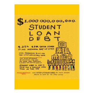 Ocupe el aviador de la protesta de la deuda credit tarjetas postales