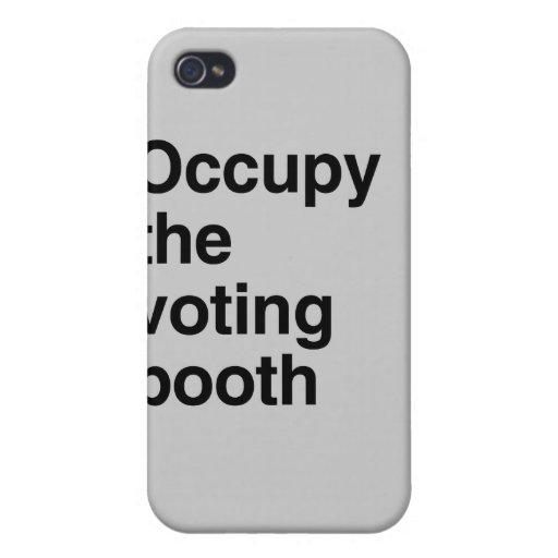 Ocupe el booth.png de votación iPhone 4/4S carcasas