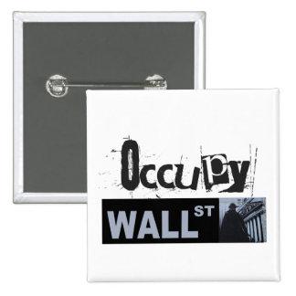 Ocupe el botón de Wall Street Pins