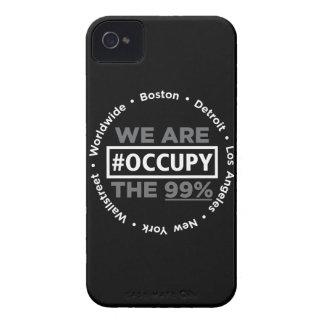 Ocupe el caso de Wallstreet/por todo el mundo del iPhone 4 Protector