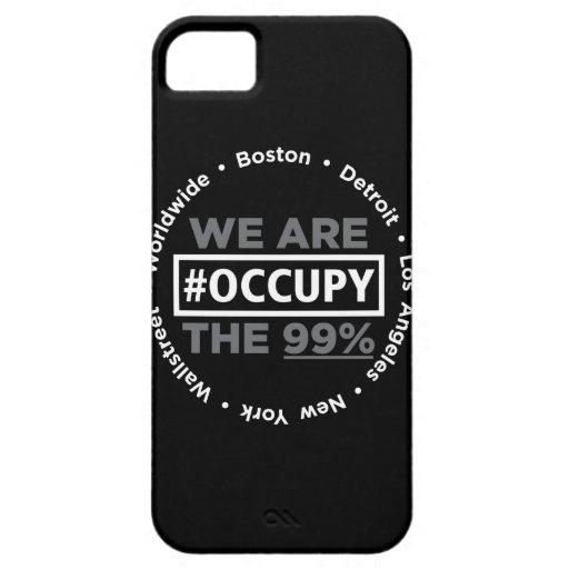 Ocupe el caso de Wallstreet/por todo el mundo del  iPhone 5 Case-Mate Carcasas
