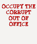 ocupe el corrupto fuera de oficina camisetas