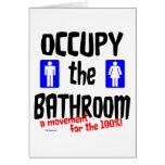 Ocupe el cuarto de baño felicitacion