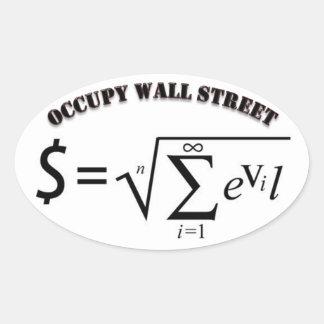 Ocupe el dinero de Wall Street es la raíz de todo Pegatinas De Óval