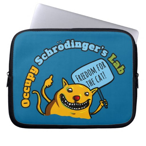 Ocupe el laboratorio de Schrodinger Funda Portátil