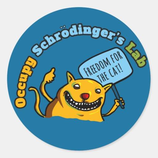 Ocupe el laboratorio de Schrodinger Etiquetas Redondas
