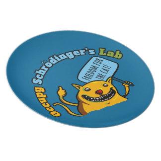 Ocupe el laboratorio de Schrodinger Platos Para Fiestas