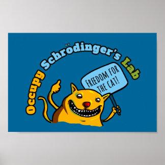 Ocupe el laboratorio de Schrodinger Póster