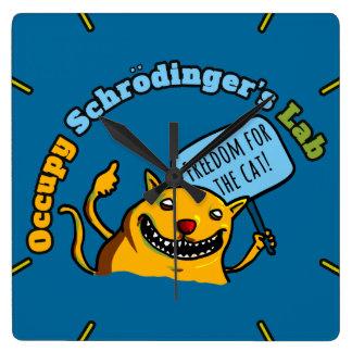 Ocupe el laboratorio de Schrodinger Reloj Cuadrado