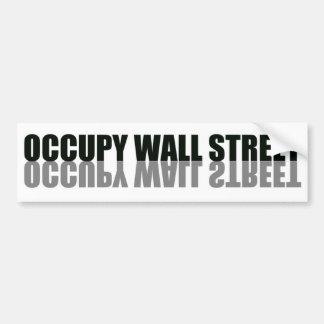 Ocupe el logotipo de moda de Wall Street Pegatina De Parachoque