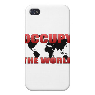 Ocupe el mundo iPhone 4 cárcasa