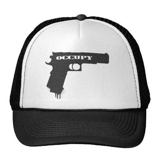 Ocupe el negro del arma de la pelota de goma gorra