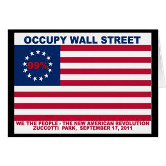 Ocupe el parque de Wall Street el 99% Zuccotti Tarjeta De Felicitación