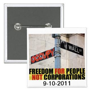 Ocupe el perno de Wall Street Pins