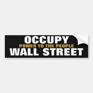 ocupe el poder de Wall Street a la gente Pegatina De Parachoque
