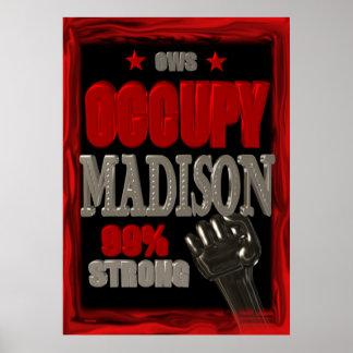 Ocupe el poster de la protesta de Madison OWS