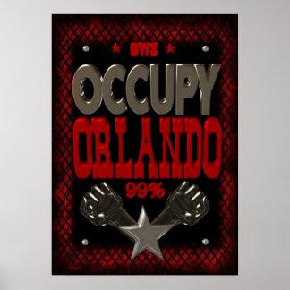 Ocupe el poster de la protesta de Orlando OWS