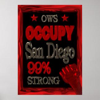Ocupe el poster de San Diego: 99percent fuerte