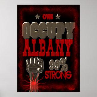 Ocupe el poster fuerte de la protesta 99 de Albany