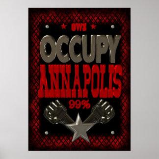 Ocupe el poster fuerte de la protesta 99 de Annapo