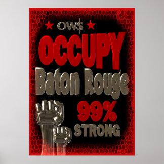 Ocupe el poster fuerte de la protesta 99 de Baton