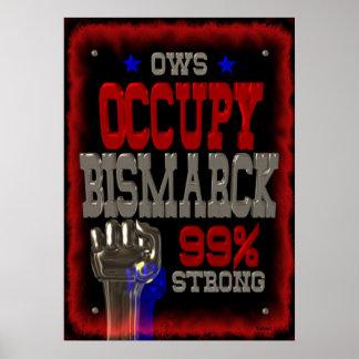 Ocupe el poster fuerte de la protesta 99 de Bismar
