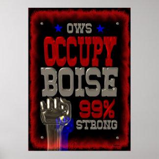 Ocupe el poster fuerte de la protesta 99 de Boise
