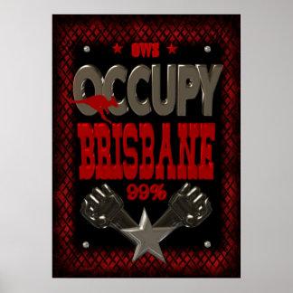 Ocupe el poster fuerte de la protesta 99 de Brisba