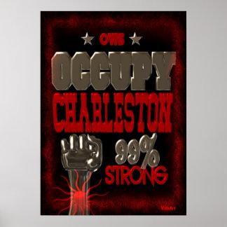 Ocupe el poster fuerte de la protesta 99 de Charle
