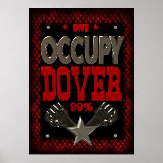 Ocupe el poster fuerte de la protesta 99 de Dover