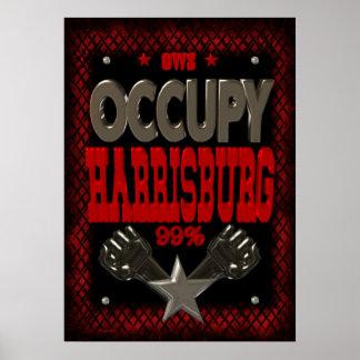 Ocupe el poster fuerte de la protesta 99 de Harris