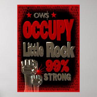 Ocupe el poster fuerte de la protesta 99 de Little