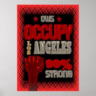 Ocupe el poster fuerte de la protesta 99 de Los Án