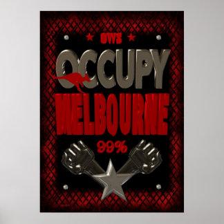 Ocupe el poster fuerte de la protesta 99 de Melbou