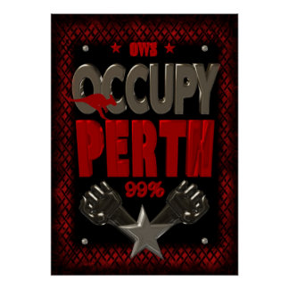 Ocupe el poster fuerte de la protesta 99 de Perth