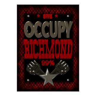 Ocupe el poster fuerte de la protesta 99 de Richmo