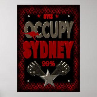 Ocupe el poster fuerte de la protesta 99 de Sydney