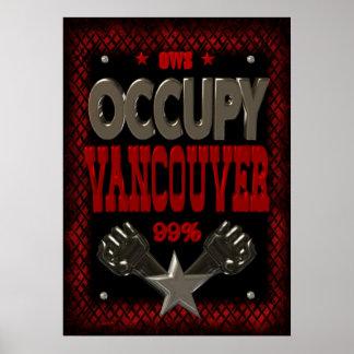 Ocupe el poster fuerte de la protesta 99 de Vancou