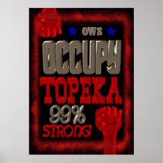 Ocupe el poster fuerte de la protesta 99 del Topek