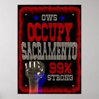 Ocupe el poster fuerte de la protesta el 99% de Sa