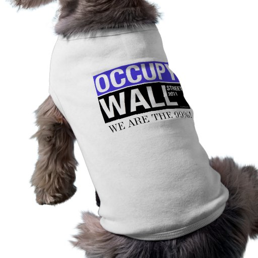 Ocupe el suéter del perro de Wall Street Playera Sin Mangas Para Perro