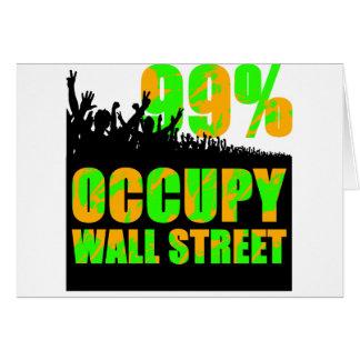 ocupe el wallstreet tarjeta de felicitación