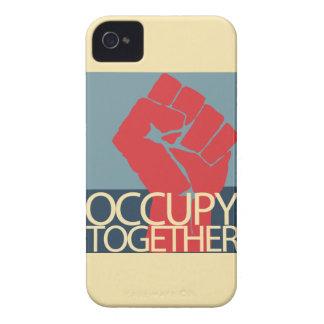 Ocupe junto el arte de la protesta ocupan Wall Case-Mate iPhone 4 Protectores