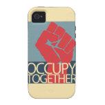 Ocupe junto el arte de la protesta ocupan Wall Case-Mate iPhone 4 Carcasas