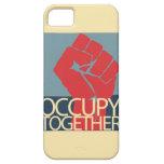 Ocupe junto el arte de la protesta ocupan Wall iPhone 5 Case-Mate Protector
