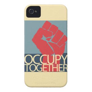 Ocupe junto el arte de la protesta ocupan Wall Funda Para iPhone 4 De Case-Mate