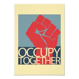 """Ocupe junto el arte de la protesta ocupan Wall Invitación 3.5"""" X 5"""""""