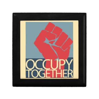 Ocupe junto el arte de la protesta ocupan Wall Str Caja De Joyas