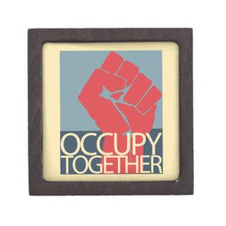 Ocupe junto el arte de la protesta ocupan Wall Str Caja De Joyas De Calidad