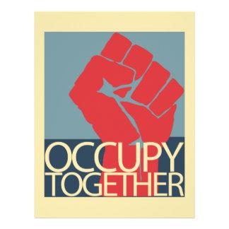 """Ocupe junto el arte de la protesta ocupan Wall Str Folleto 8.5"""" X 11"""""""